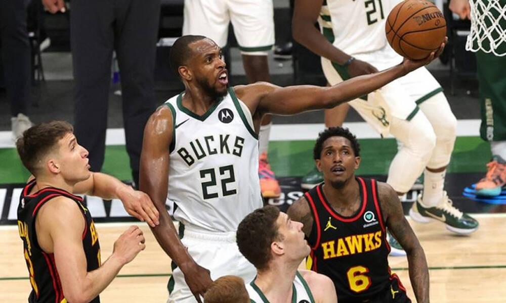 NBA: Έτσι πήραν προβάδισμα οι Μπακς κόντρα στους Χοκς (video)