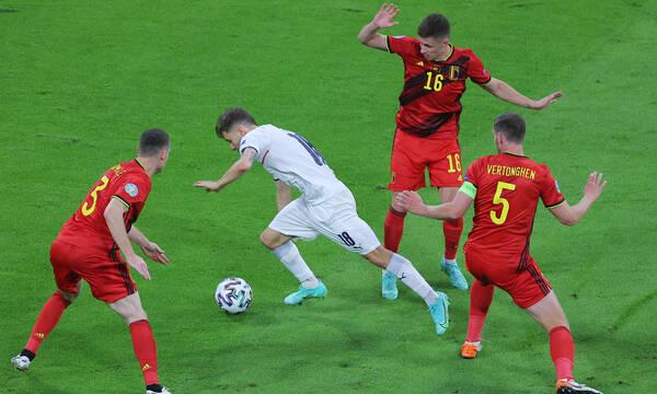 Euro 2020: Τρομερή Ιταλία στο ημίχρονο - Μπήκε στο ματς το Βέλγιο - Όλα τα γκολ (videos)