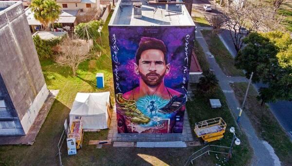Λιονέλ Μέσι: Το εκπληκτικό γκράφιτι στο σχολείο του! (Video+Photos)