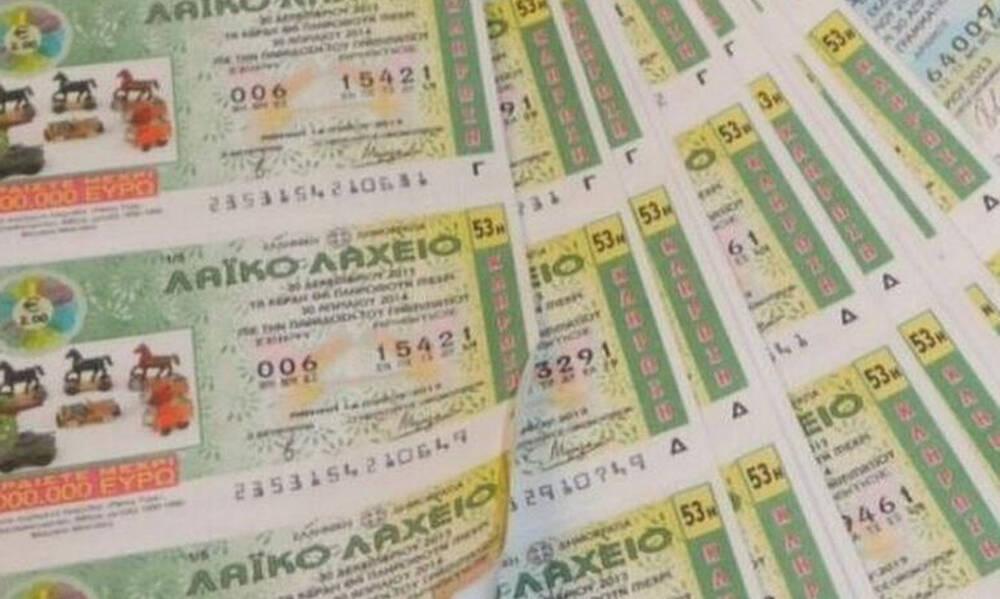 Το Λαϊκό Λαχείο μοίρασε περισσότερα από 7,5 εκατομμύρια ευρώ τον Ιούνιο