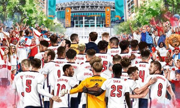 Euro 2020: Όνειρο το it's coming home - Πανζουρλισμός στο Γουέμπλεϊ για το Αγγλία-Δανία! (photos)