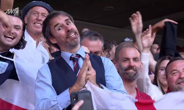 Euro 2020: Η «τρέλα» των Άγγλων στο Γουέμπλεϊ και ο «σωσίας» του Σάουθγκεϊτ (video)