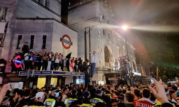 Euro 2020: Συλλήψεις στο Λονδίνο κατά την διάρκεια των πανηγυρισμών των Άγγλων