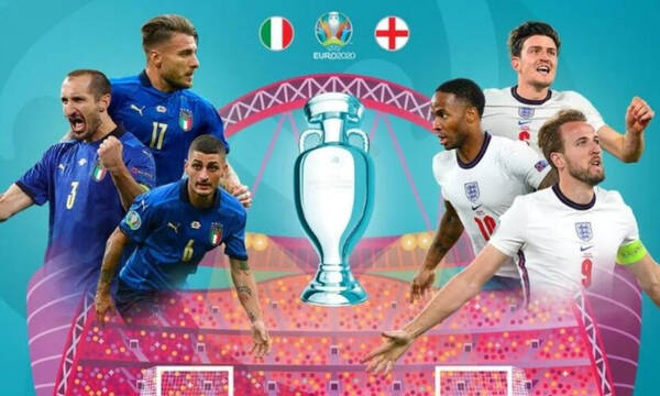 Ιταλία-Αγγλία: Η ώρα και το κανάλι της μεγάλης μάχης του τελικού του Euro 2020