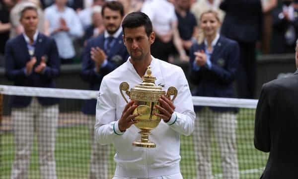 Τζόκοβιτς: Πήρε το 6ο του Wimbledon, αλλά το σκέφτεται για Τόκιο (photos)
