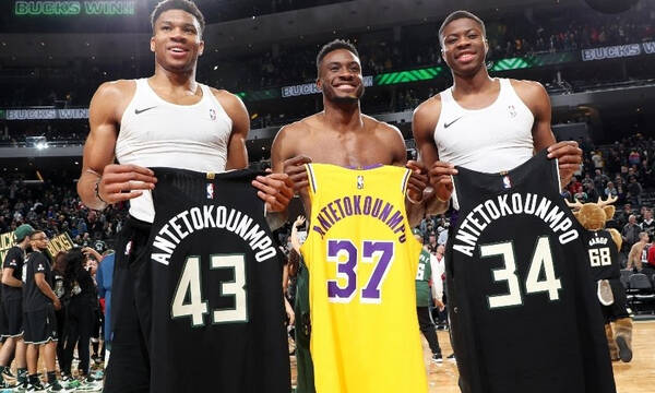 NBA: Έγραψαν ιστορία τα αδέρφια Αντετοκούνμπο - Τα πρώτα τρία που κατακτούν τίτλο (photos)