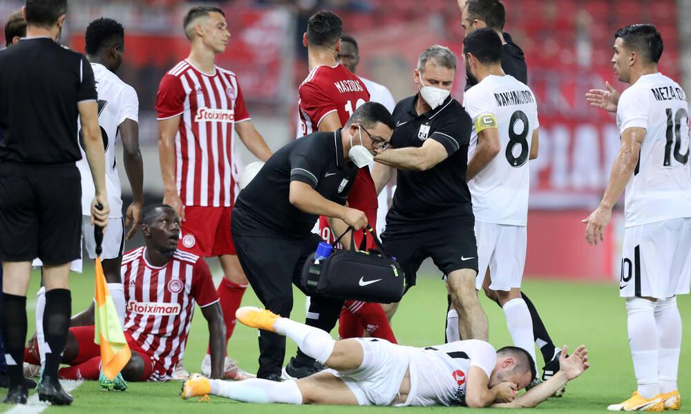 Ολυμπιακός-Νέφσι Μπακού: Η αποβολή με χτύπημα - καράτε του Καμαρά - Ήρωας ο Τζολάκης (video)