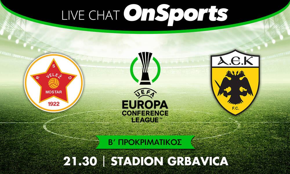 Live Chat Βελέζ-ΑΕΚ 2-1 (τελικό)