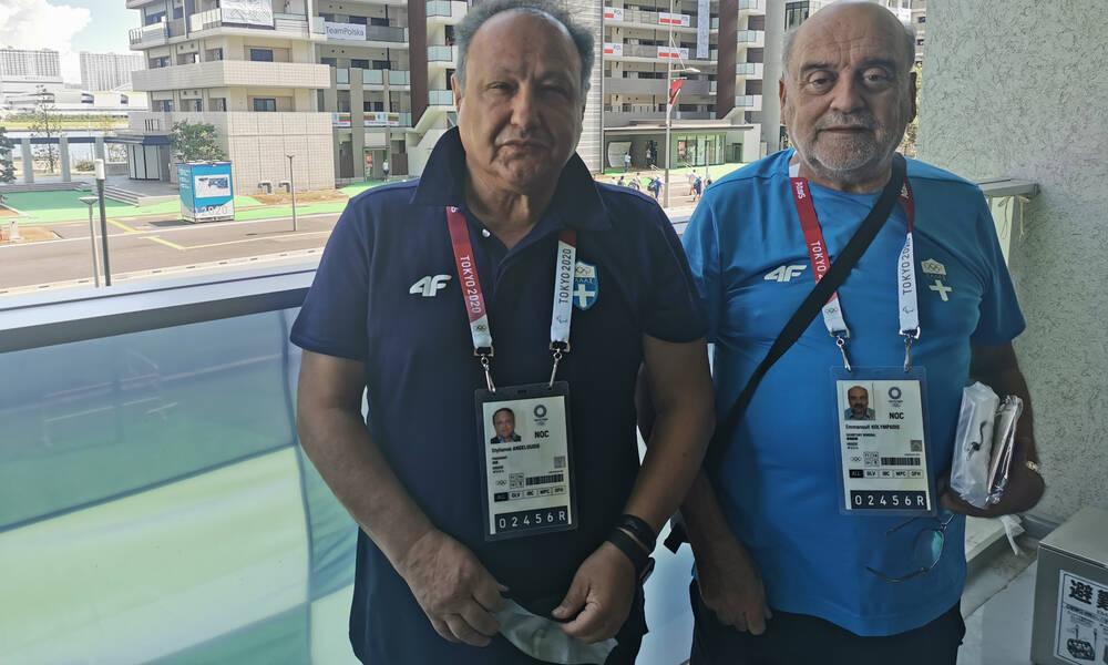 Ολυμπιακοί Αγώνες: Κολυμπάδης και Αγγελούδης επισκέφτηκαν το «γαλανόλευκο» αρχηγείο