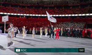 Ολυμπιακοί Αγώνες: Με τη σημαία της ΔΟΕ οι Ρώσοι στην τελετή έναρξης (video)