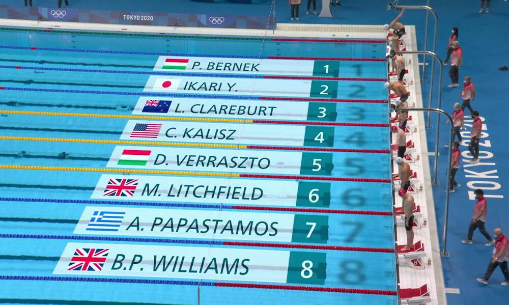 Ολυμπιακοί Αγώνες - Κολύμβηση: Ο Παπαστάμος 14ος στα 400μ. μικτή ατομική, εκτός τελικού ο Σέτο (vid)