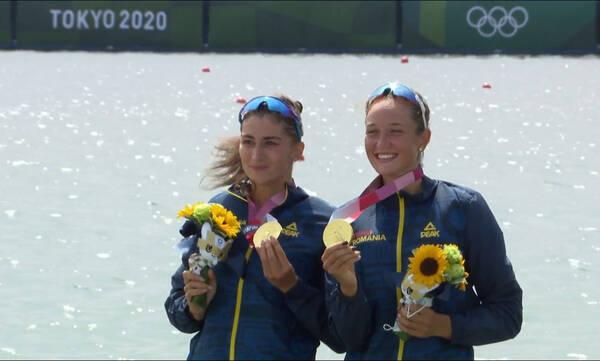 Ολυμπιακοί Αγώνες-Κωπηλασία: «Χρυσές» οι Ρουμάνες Μπόντναρ και Ράντιτς στο διπλό σκιφ με ρεκόρ (vid)