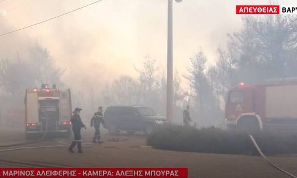 Φωτιά Βαρυμπόμπη - Το συνεργείο του MEGA αποκλεισμένο στην πύρινη λαίλαπα (video)