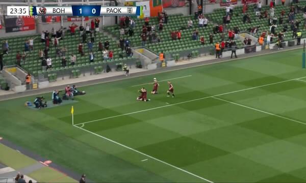 Μποέμιανς-ΠΑΟΚ: Τραγικό λάθος και 1-0 οι Ιρλανδοί (video)