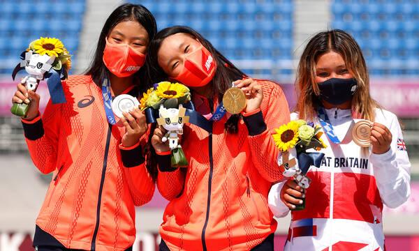 Ολυμπιακοί Αγώνες: «Χρυσή» η Σακούρα, έγραψε ιστορία η… 12χρονη «χάλκινη» Μπράουν (photos)