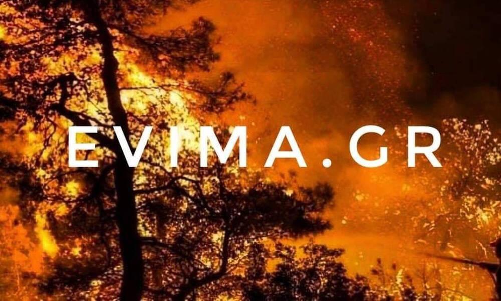 Φωτιά στην Εύβοια: Η πυρκαγιά καίει ανεξέλεγκτα - Εκκενώθηκαν τρία χωριά