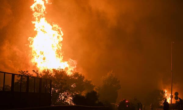 Η Ελλάδα στις φλόγες - Εφιαλτική νύχτα σε Αττική, Εύβοια και Ηλεία - Όλες οι εξελίξεις