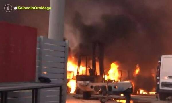 Φωτιά στην Αττική: Εκρήξεις σε εργοστάσιο στις Αφίδνες - Συγκλονιστικά βίντεο