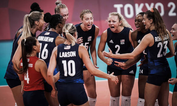 Ολυμπιακοί Αγώνες: Οι ΗΠΑ διέλυσαν με 3-0 σετ τη Σερβία και προκρίθηκαν στον τελικό (photos+video)
