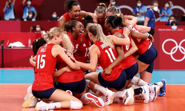 Ολυμπιακοί Αγώνες: «Χρυσές» οι ΗΠΑ, διέλυσαν με 3-0 σετ τη Βραζιλία (photos+video)