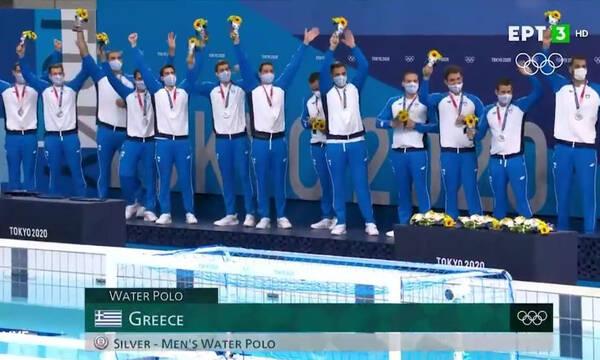 Ολυμπιακοί Αγώνες: Η ιστορική απονομή του ασημένιου μεταλλίου στην Εθνική πόλο (video)