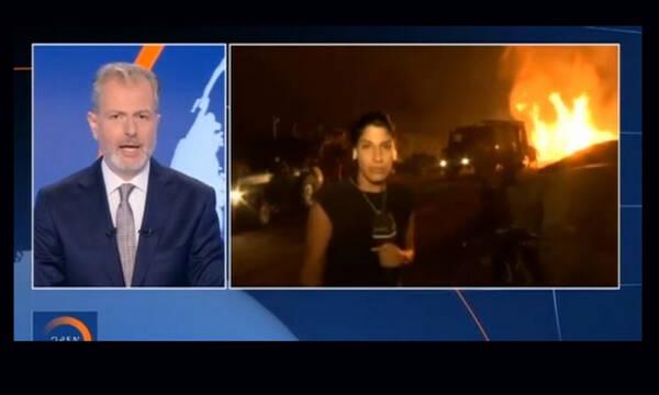 Φωτιά στην Εύβοια: Νέο επεισόδιο με ρεπόρτερ του Open - Διεκόπη η σύνδεση (Video)