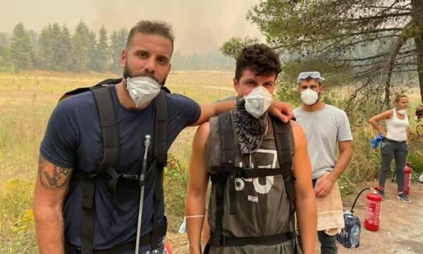 Συγκλονίζει ο Παππάς - Εθελοντικά στις φωτιές στην Εύβοια (photos)