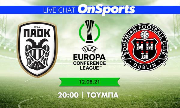 Live Chat ΠΑΟΚ - Μποέμιανς 2-0 (τελικό)