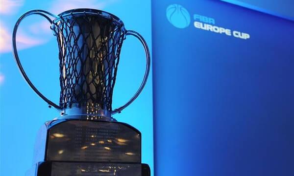 FIBA Europe Cup: Οι αντίπαλοι των ελληνικών ομάδων