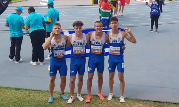 Παγκόσμιο Κ20: Έκτη η εθνική ομάδα στα 4Χ100 μέτρα με νέο πανελλήνιο ρεκόρ (video)