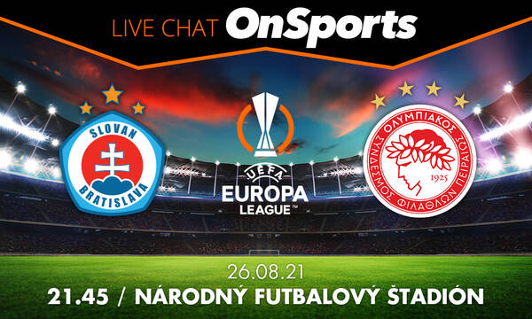 Live Chat Σλόβαν Μπρατισλάβας - Ολυμπιακός 2-2 (τελικό)
