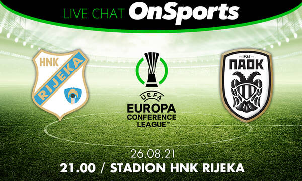 Live Chat Ριέκα - ΠΑΟΚ 0-2 (τελικό)