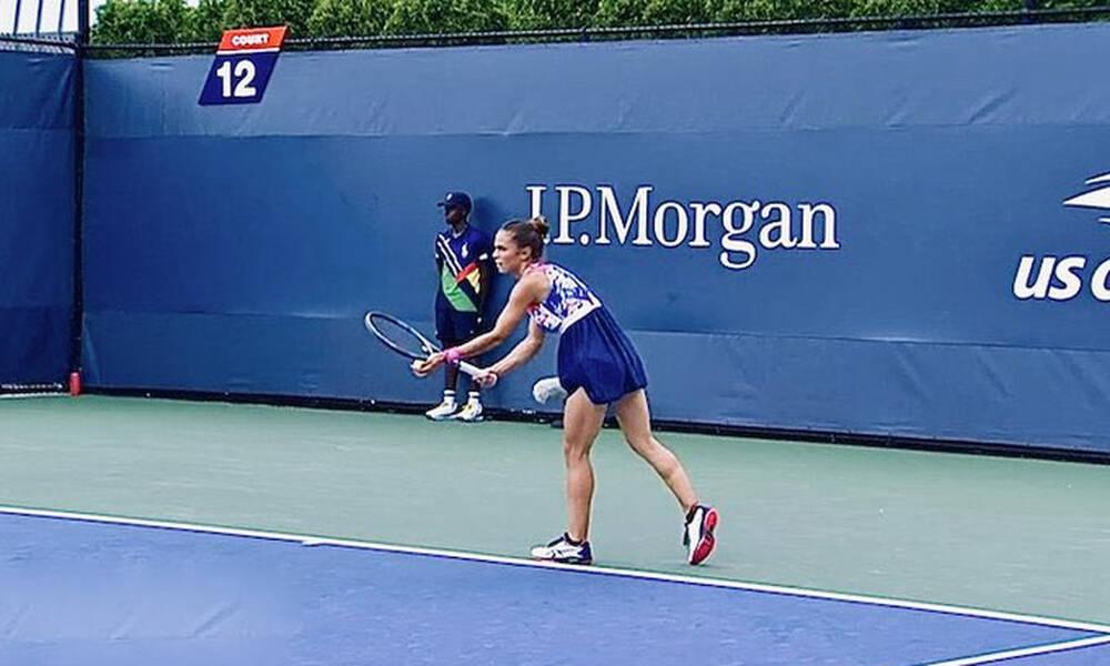 US Open: Λύγισε από τη Μέρτενς η Γραμματικοπούλου