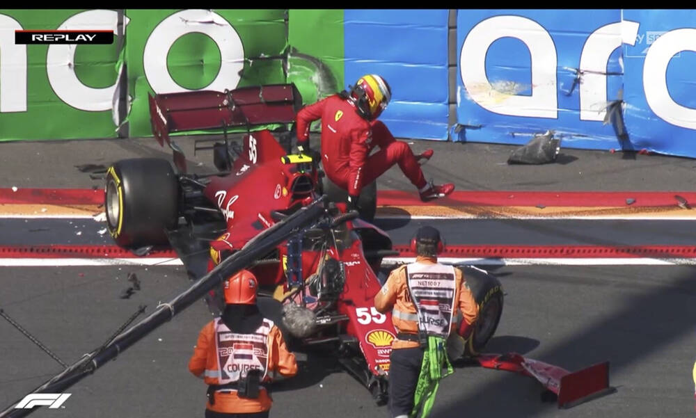 Ατύχημα στη Formula 1: Ο Σάινθ έχασε τον έλεγχο και έπεσε πάνω σε τοίχο (photos+video)