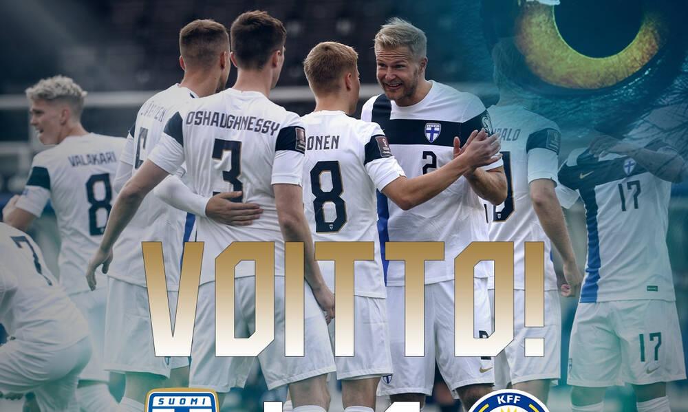 Προκριματικά Μουντιάλ 2022: Πρώτη νίκη για την Φινλανδία