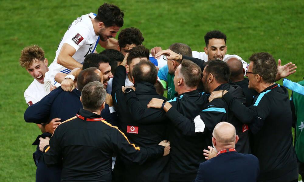 Ελλάδα-Σουηδία 2-1: Οι αγκαλιές στον Φαν'τ Σχιπ και οι έξαλλοι πανηγυρισμοί στο ΟΑΚΑ! (video+photos)