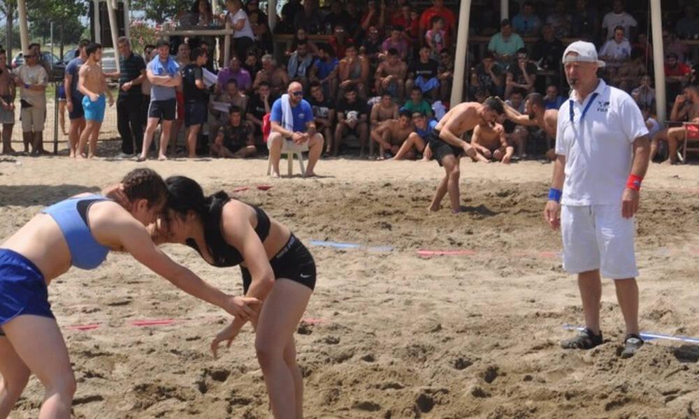 Η Κατερίνη φιλοξενεί το Ευρωπαϊκό και Παγκόσμιο πρωτάθλημα πάλης στην άμμο