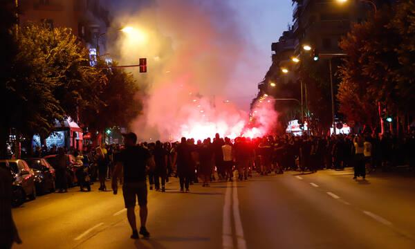 ΠΑΟΚ: Πορεία διαμαρτυρίας των οπαδών για διαχωρισμούς και αθλητικό νόμο (photos)