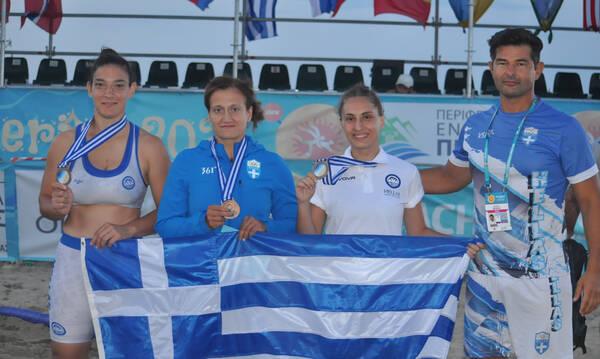 Τρία μετάλλια για την Ελλάδα στο Παγκόσμιο πρωτάθλημα Πάλης στην άμμο
