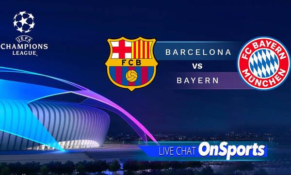 Live Chat Μπαρτσελόνα-Μπάγερν Μονάχου - Όλη η δράση στο Champions League