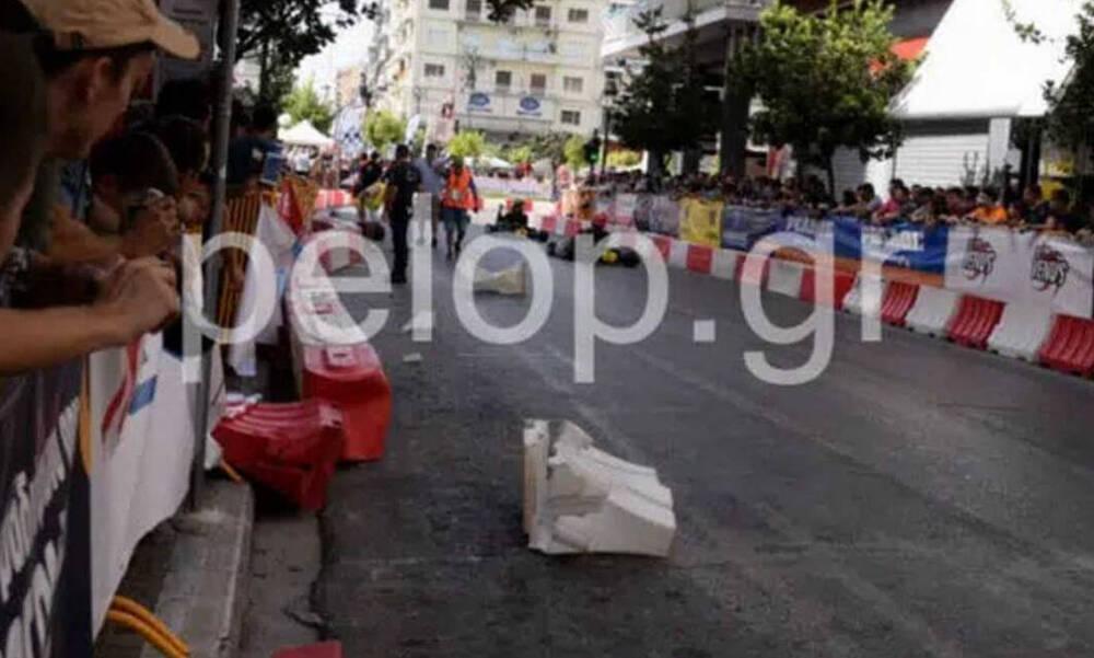 Σοκαριστικό ατύχημα στην Πάτρα  - Καρτ χτύπησε εξάχρονο παιδί στο κεφάλι (photos+video)