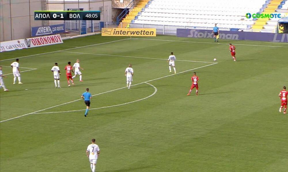 Απόλλων Σμύρνης-Βόλος: Το κάρφωσε ξανά ο Φαν Βέερτ και 0-2 η ομάδα της Μαγνησίας! (video)
