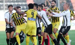 ΟΦΗ-ΑΕΚ: Ένταση με Λάμπρου, αποβλήθηκε ο Λιβάι Γκαρσία - Κι άλλο γκολ ο Τσούμπερ (videos)