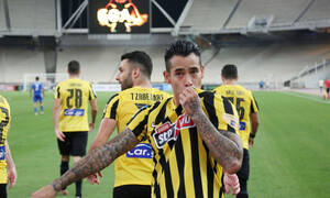 AEK-Λαμία: Με γκολάρα Αραούχο το 1-0 - Στο... πόδι το ΟΑΚΑ (video+photos)