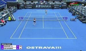 Μαρία Σάκκαρη: «Γαλλικά» από την Οσταπένκο και ένταση στο WTA Οστράβα (video)