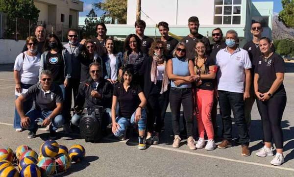 Θερμή υποδοχή για τους αθλητές βόλεϊ του ΟΦΗ στα σχολεία της Κρήτης