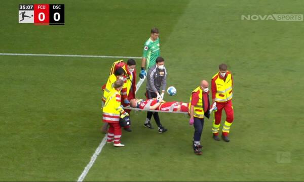Bundesliga: Σοκαριστικός τραυματισμός στο Ουνιόν Βερολίνου-Αρμίνια Μπίλεφελντ (video)
