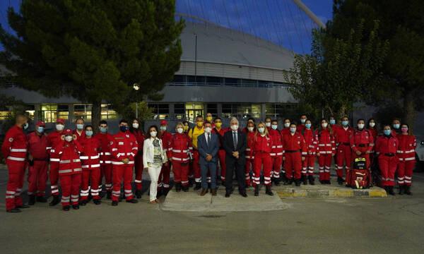 Ο Υφυπουργός Αθλητισμού τίμησε τους εθελοντές του ΕΕΣ για τη προσφορά τους στο Ράλλυ Ακρόπολις