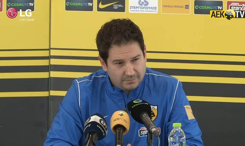 Έτσι ονειρεύεται την ΑΕΚ ο Γιαννίκης: «Να διεκδικούμε τίτλους – Προέχει να δουλέψουμε ένα πλάνο»