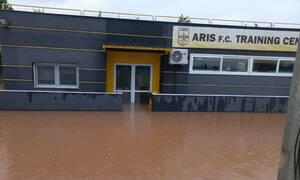 Άρης: Εικόνες καταστροφής στο προπονητικό κέντρο - Zημιές 400.000 ευρώ στο Ρύσιο (photos)